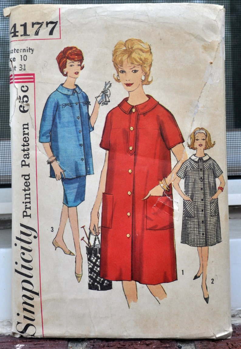 5f6c457045af4 Simplicity 4177 Sweet 1960s Maternity Dress and Suit | Etsy