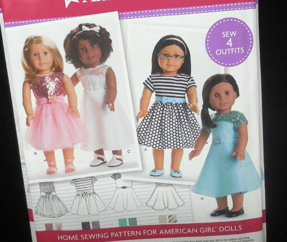 "/""Simplicité/"" Fashion Pattern for American Girl Dolls"