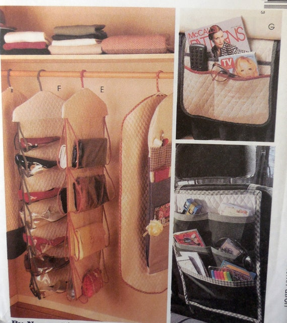 McCallu0027s 8260   DIY Storage Solutions   Closet, Garment Bag, Car Caddy,  Armchair Bag, Wrapping Paper Storage, Closet Caddy   UNCUT