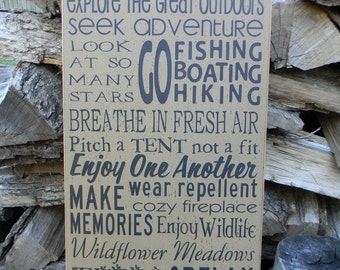 Life is better in the mountains typography word art wood sign