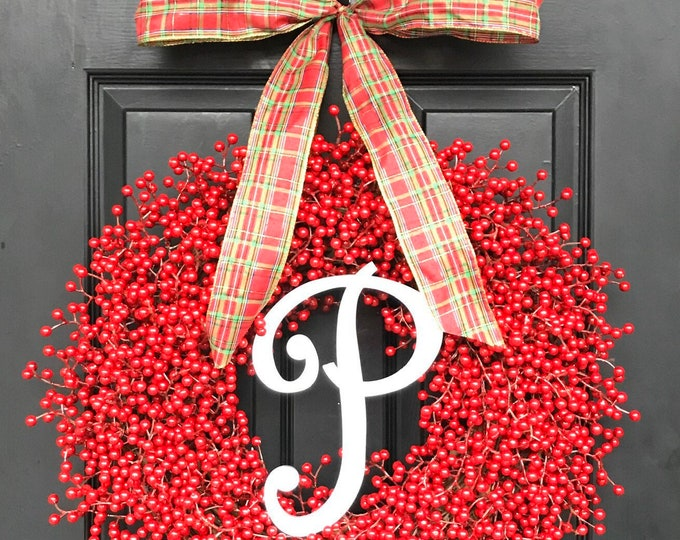 Red Berry Front Door Christmas Wreaths Holiday Decor Berry Wreaths for Door Thanksgiving Wreath, Thanksgiving Decor Weatherproof Etsy Wreath