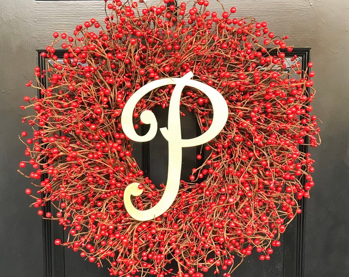 RED Berry Christmas Wreath- Berry Door Wreath- Winter Berry Valentine's Day Wreath Fall Wreath XL