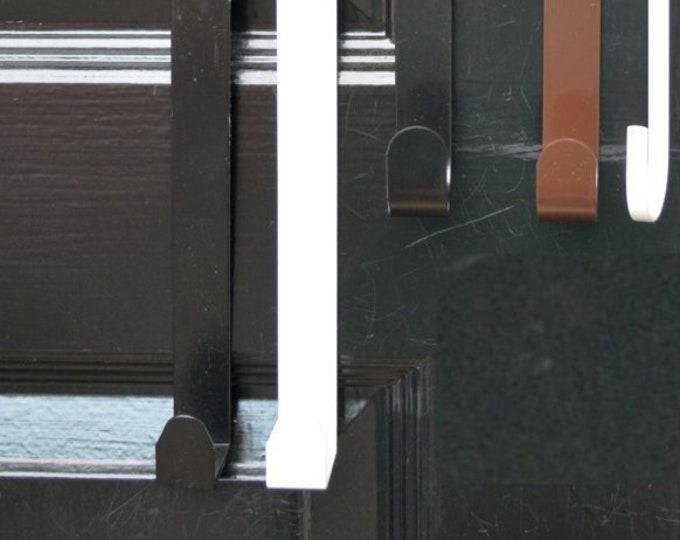 Long, Standard Hanger Size Thin Door Wreath Hanger, Front Door Hook,Wreaths,Metal Door Hook for Wreaths,15&18 inches long, Made in USA