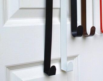 12 White Metal Door Hook Customized Holder Personalized Wreath Over The Door Hanger Housewarming Gift Monogrammed Wreath Accessories