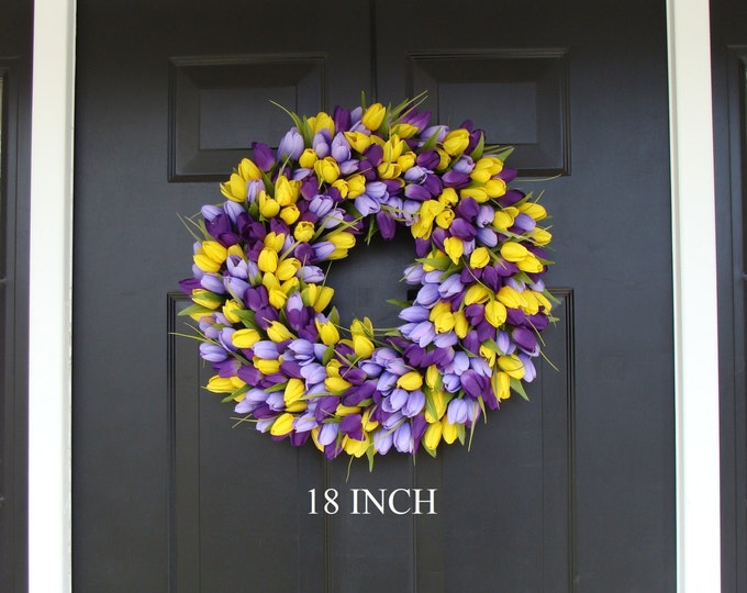 Spring Wreath- Front Door Wreath- Lavender Wreath- Spring Wreath for Door- Summer Wreath