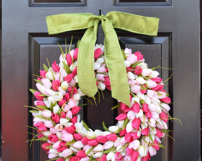 Mother's Day Gift- Mother's Day Wreath- Gift for Her- Mother's Day Bouquet- Mothers Day Flowers- Silk Spring Wreath- Spring Decor