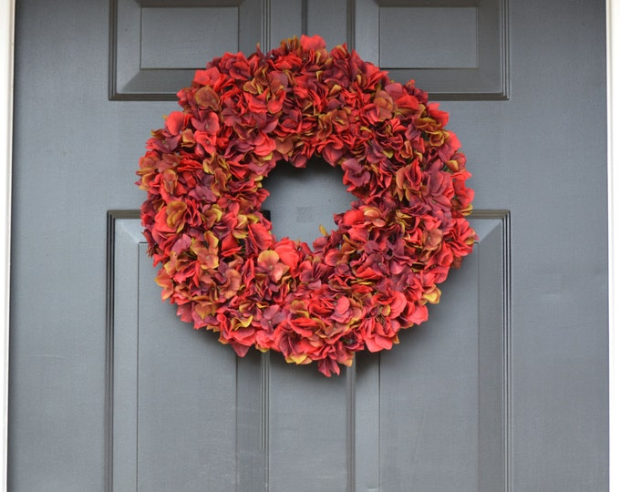 Fall Wreaths- Hydangea Wreath- Fall Decor- Fall Hydrangea Wreath- Fall Decoration- Autumn Decor- Door Wreath- Etsy Wreath- Fall Hydrangeas
