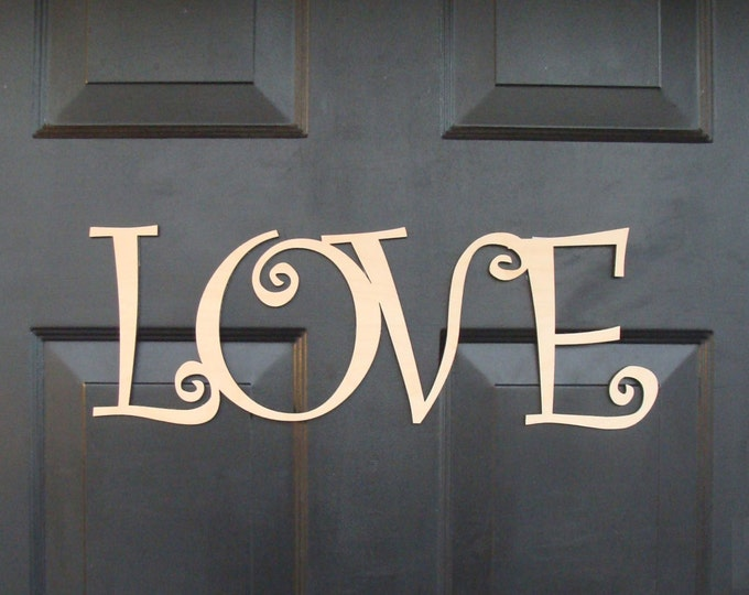 Love Wooden Sign, Love Monogram Letters, Valentines Day Love Letters, Wedding Sign, Wood Sign, Door Decoration, Wedding Decor, READY TO SHIP