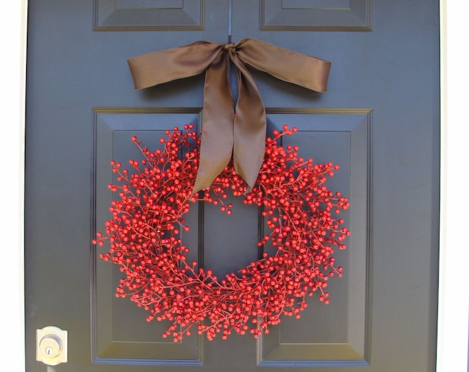 Berry Fall Wreath, Fall Berry Wreath, Fall Wreath with Berries, Fall Decor, Fall Decoration, Thanksgiving Wreath, Thanksgiving Decor