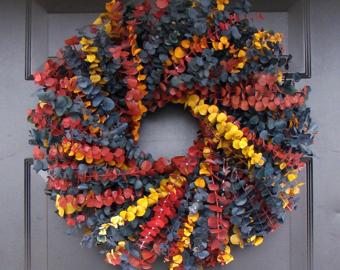 Year Round Wreath- Dried Floral Wreath- Floral Arrangement- Eucalyptus Wall Decor- Eucalyptus Wreath