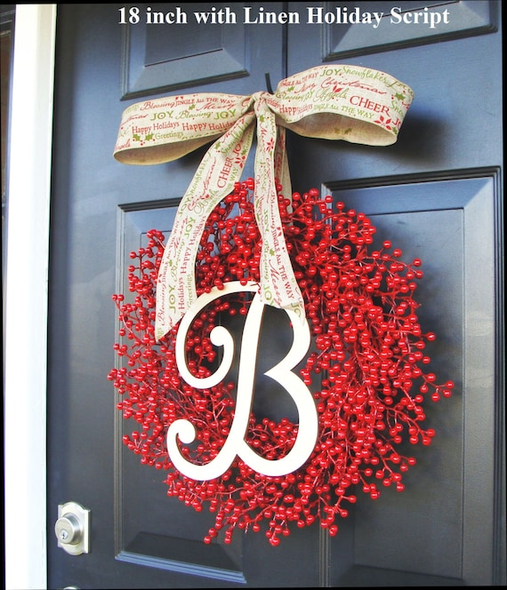 Red Berry Christmas Wreaths, Holiday Decor, Berry Wreaths, Thanksgiving Wreath, Halloween Wreath Thanksgiving Decor Weatherproof Etsy Wreath