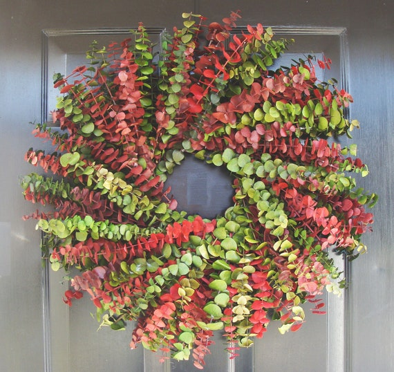 Dried Floral Christmas Wreath- Eucalyptus Wreath- Dried Floral Wreath- Holiday Decor