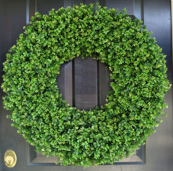 28 Inch XXL Artificial Boxwood Wreath, Oversized Wreath, Mantle Decor, Church Decor, Church Decoration, Wedding Wreath, Shabby Chic