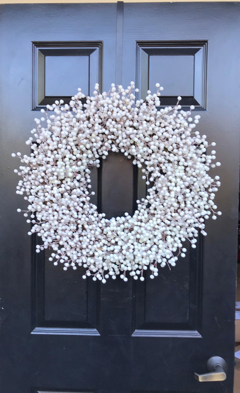 Weatherproof White Berry Wreath Outdoor Winter Wreath Wedding Berry Wreath Winter Wreath Front Door Year Round Wreath 14 28 Inches