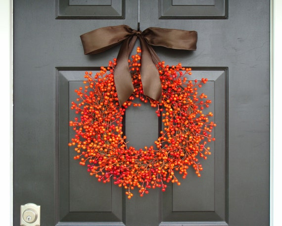 Berry Wreath, Fall Berry Wreath, Fall Wreath with Berries, Fall Decor, Fall Decoration Waterproof WEATHERPROOF BERRIES