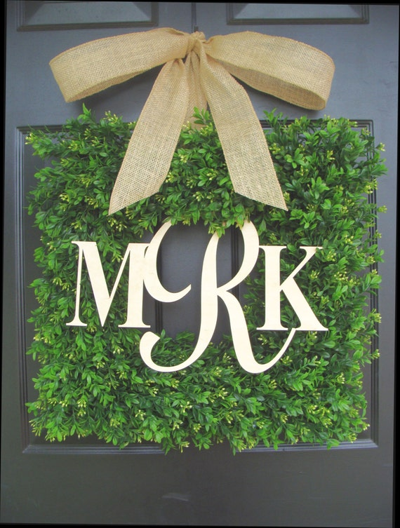 Monogram Wedding Gift, Couples Monogram Wreath, Wedding Decor, Shower Gift for Bride and Groom, Outdoor Decor, Personalized Wedding Gift