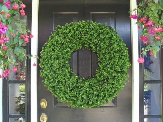 xl decor boxwood holiday wreath outdoor christmas wreath extra large boxwood wreath ceremony decor outdoor spri - Large Outdoor Christmas Wreath