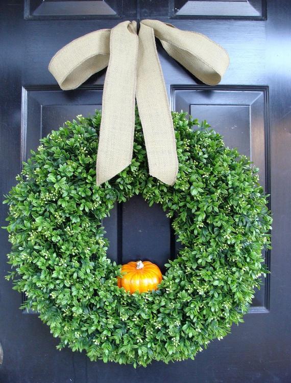 Pumpkin Thanksgiving Wreath, Thanksgiving Pumpkin Decor, Pumpkin Wreath, Pumpkin Pie, Front Door Decoration, Burlap Bow Fall Wreath for Door
