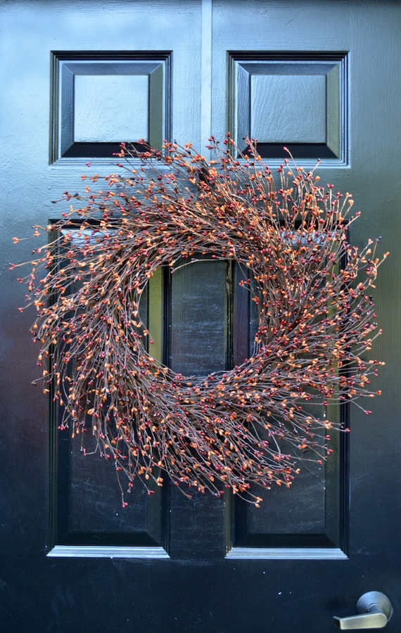 Pip Berry Wreath- Fall Wreath- Halloween Wreath- Autumn Decoration- Front Door Wreath- Berry Wreath- Autumn Wreath- Year Round Wreaths