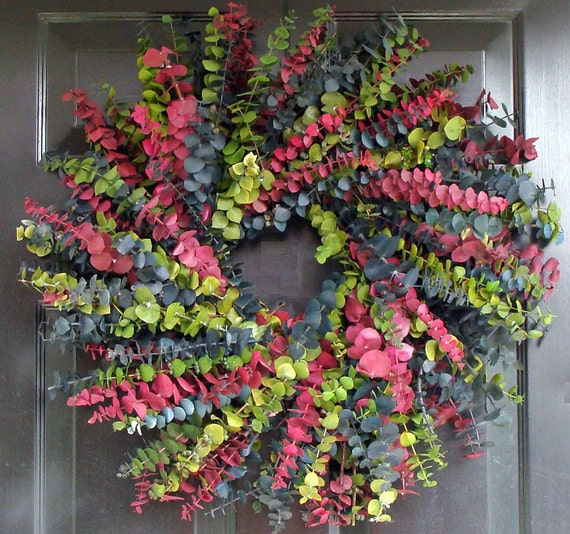 Summer Days Eucalyptus Wreath- Preserved Eucalyptus Wreath