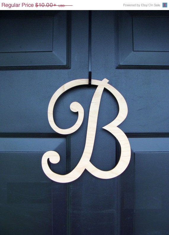 Unfinished Custom Wood Monogram- Wedding Gift- Wall Decor- Home Decor Monogram- Wreath Accessory- Wedding Decor- Front Door Hanging