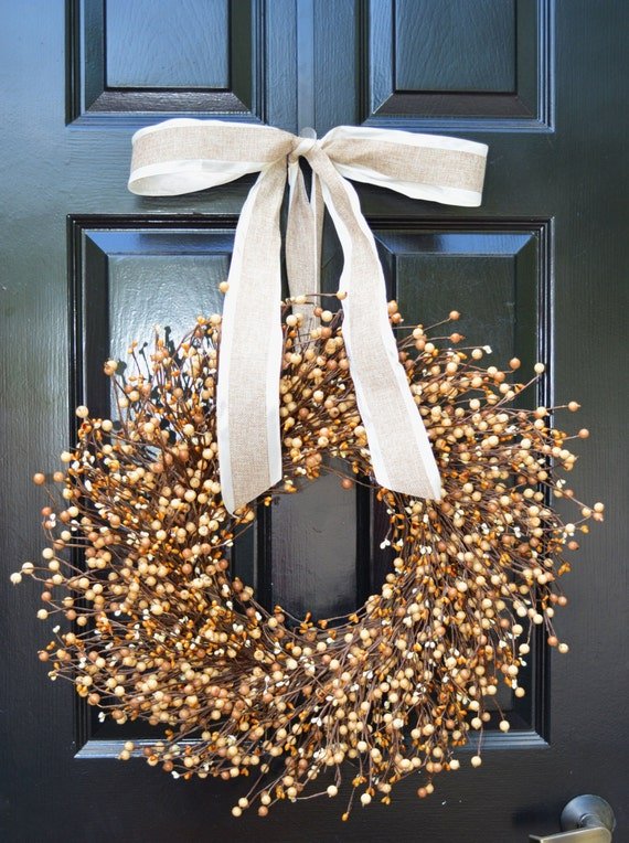 Fall Berry Wreath- Front Door Wreath- Halloween Wreath- Autumn Decor- Fall Decoration- Berry Wreath- Autumn Wreath- Year Round Wreaths