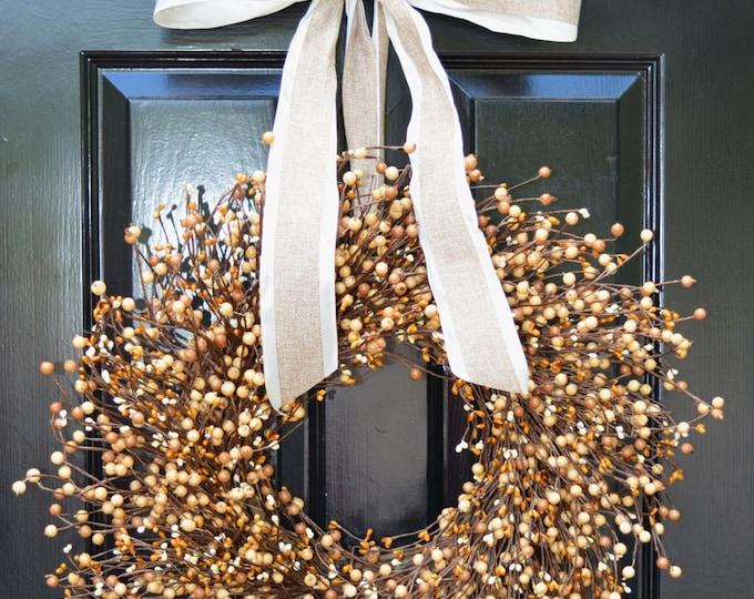 Fall Berry Wreath- Front Door Wreath- Halloween Wreath- Autumn Decor- Fall Decoration- Berry Wreath- Autumn Wreath- Year Round Wreaths