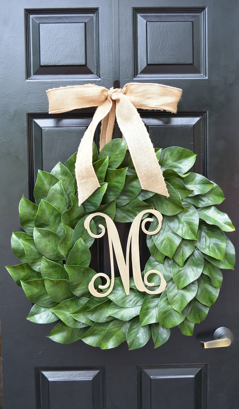 Magnolia Wreath Artificial Magnolia Wreath Magnolia Leaves Etsy