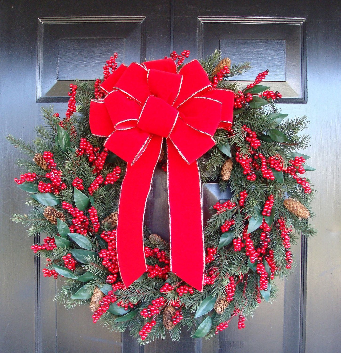 Outdoor Christmas Ribbon.Weatherproof Outdoor Christmas Bow Xl Red Velvet