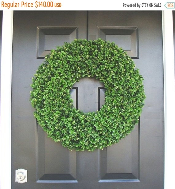 SUMMER WREATH SALE Year Round Wreath, Front Door Decor, Outdoor Boxwood Wreath, Room Decor, Wall Decor, Xl 24 Inch