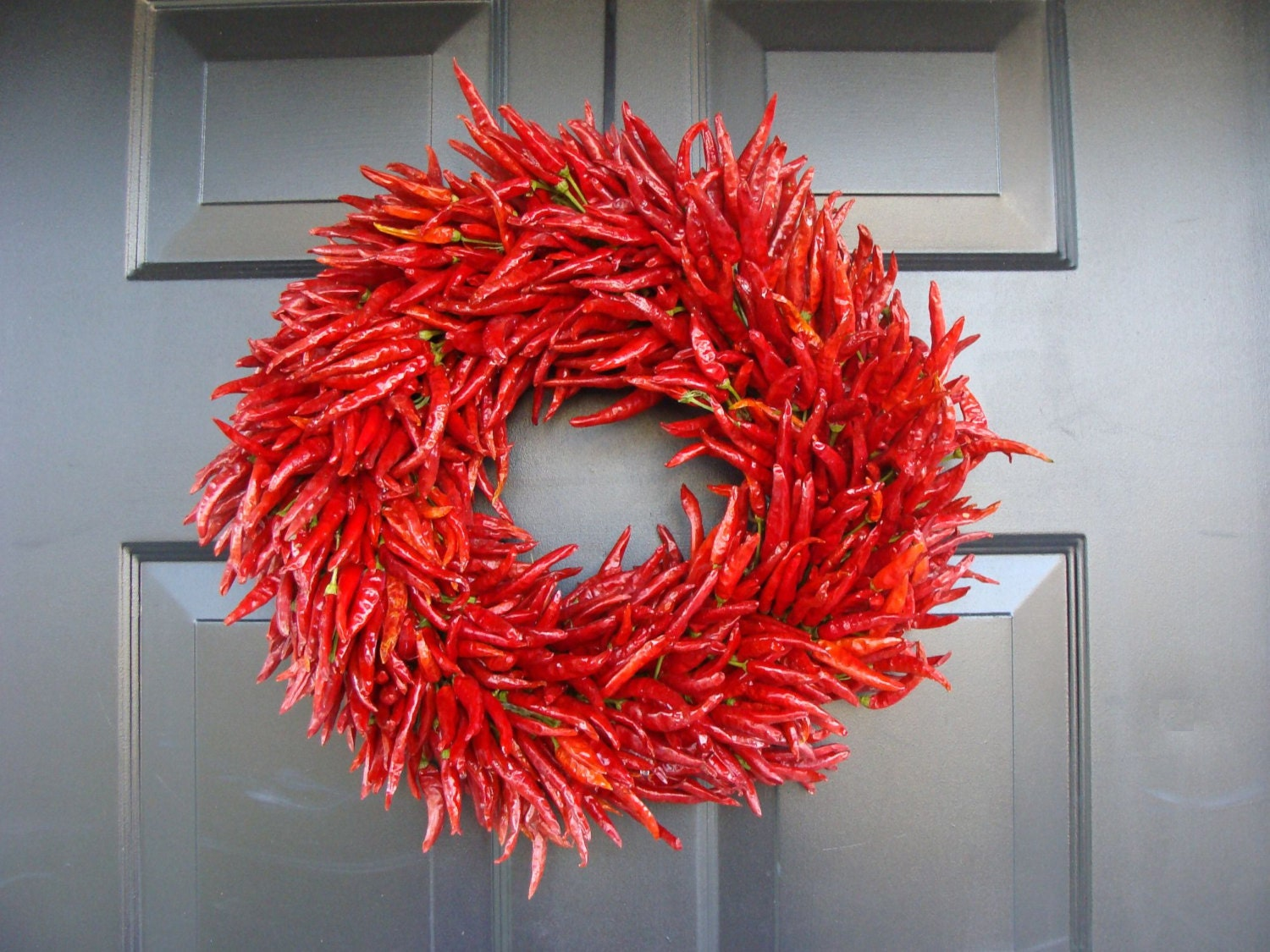 Organic Red Chili Pepper Wreath Christmas Gift Christmas Decor
