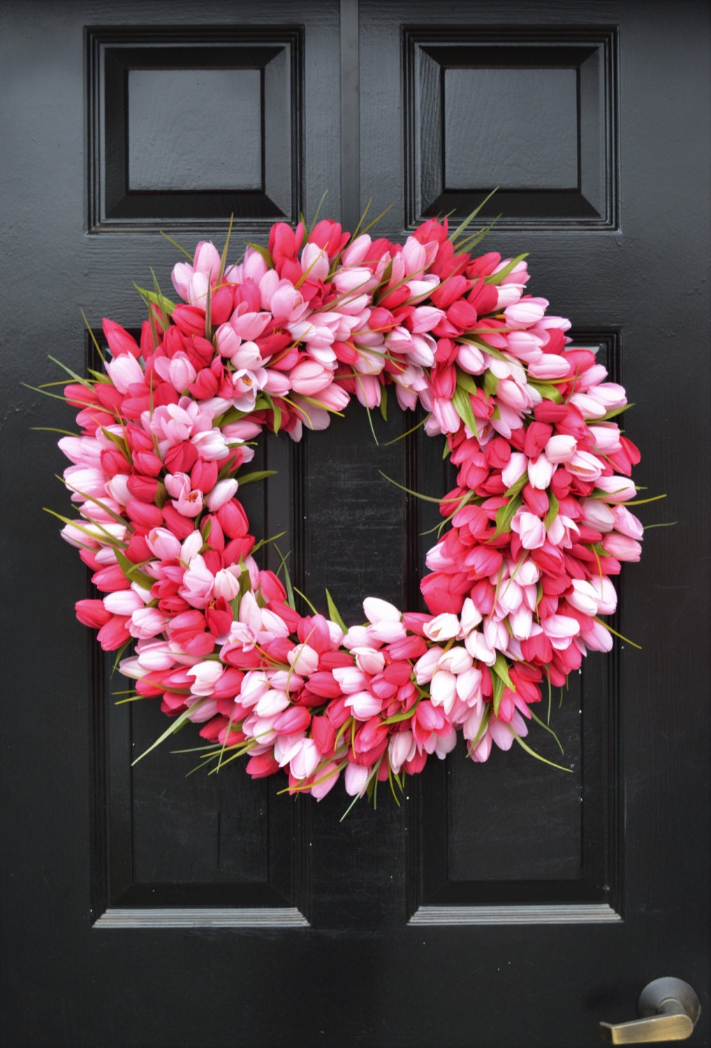 THIN Spring Tulip Wreath, Front Door Wreath, Storm Door Wreath, Spring  Wreath, Silk Flower Wreath, Tulip Wreaths, Sizes 16 24 Inch Available