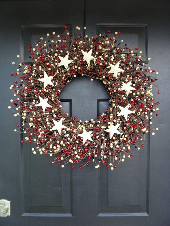 Fourth of July Wreath- July 4th Wreath- Patriotic Wreath- Fourth of July Decor