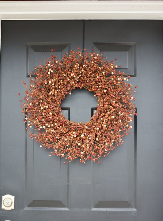 Berry Fall Wreath, Thanksgiving Wreath Berry Wreath, Thanksgiving Decor XL 18 - 24 INCH Sizes Available
