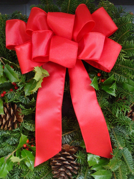 Christmas Decor, Christmas Bows, Christmas Decoration, Bow for Decorating,  Choose Your Color, Christmas Wreath Bow