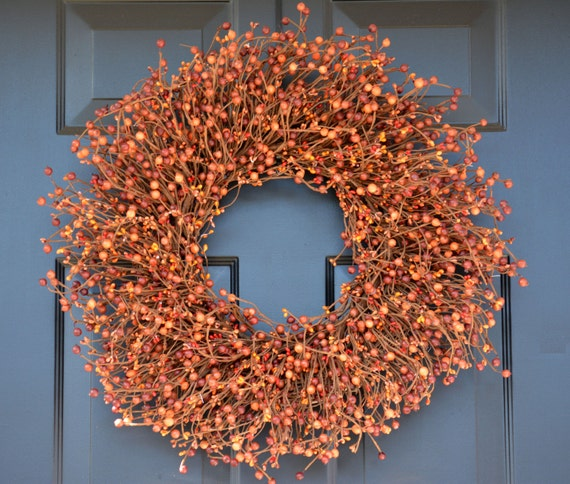 Fall Sunset Wreath, Thanksgiving Wreath Berry Wreath, Fall Decor, Thanksgiving Decor Xl 18 - 24 Inch Sizes Available