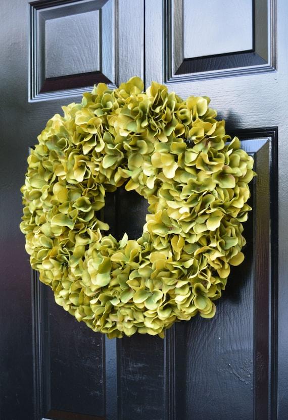 Custom Fall Wreath, Monogram Hydrangea Wreath, Fall Monogram Wreath, Red Hydrangea Wreath, Fall Decor Halloween Decor