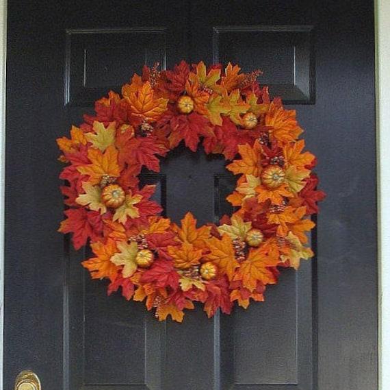 Thanksgiving Fall Wreath- Pumpkin Pie Thanksgiving Wreath Decor- Fall Wreaths- Autumn Wreaths