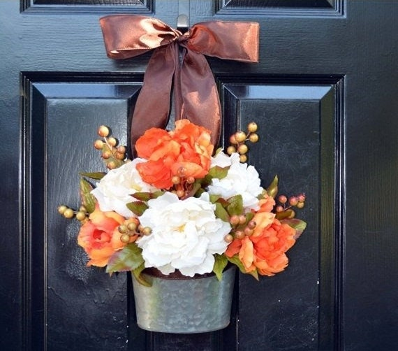 Fall Peony Wreath- Fall Peonies Wreath- Ready to Ship- Door Wreath- Thanksgiving Wreath- Fall Decor- Year Round