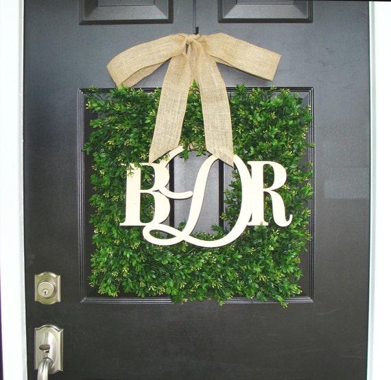 Rustic Wedding Monogram Wedding Wreath, Monogram Wedding Wreath, Wedding Decor, Gift for Couples, Shower Gift, Outdoor Wedding 20 inch shown