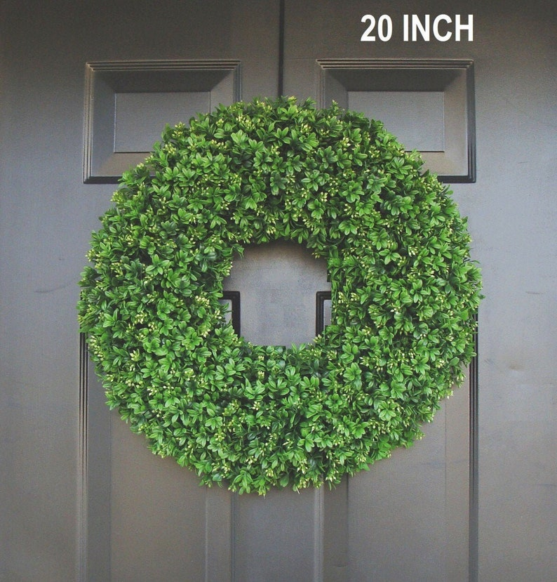 Realistic Artificial Boxwood Wreath12 to 30 inch Sizes 20 inches