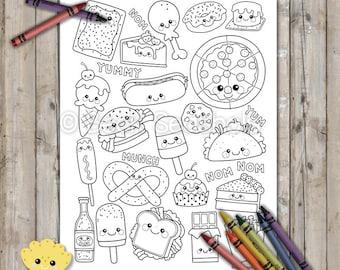 Kawaii Explosion Coloring Book Kit 4 Adorable Coloring