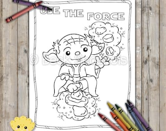 Star Wars Printable Coloring Page Yoda Use The Force