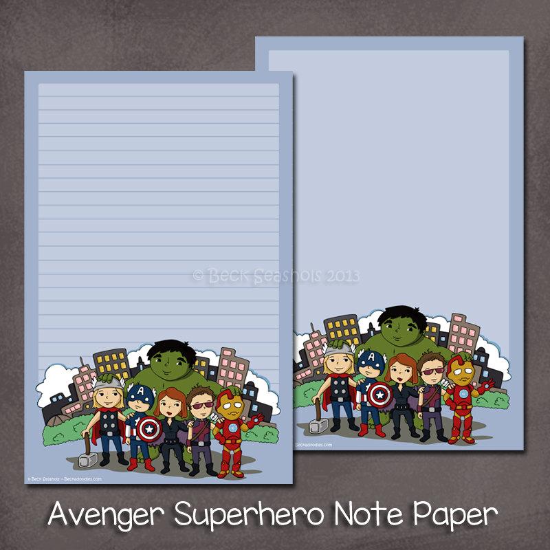 Avengers Superhelden Briefpapier Set Briefpapier Geschenk | Etsy