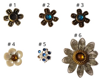 Enid Collins, Authentic Replacement, One Individual, Used Flower Bead, Collins Of Texas