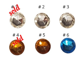 Enid Collins, Individual, Authentic Replacement, Round,Glass, Foil Back Gems, Jewels, Collins Of Texas