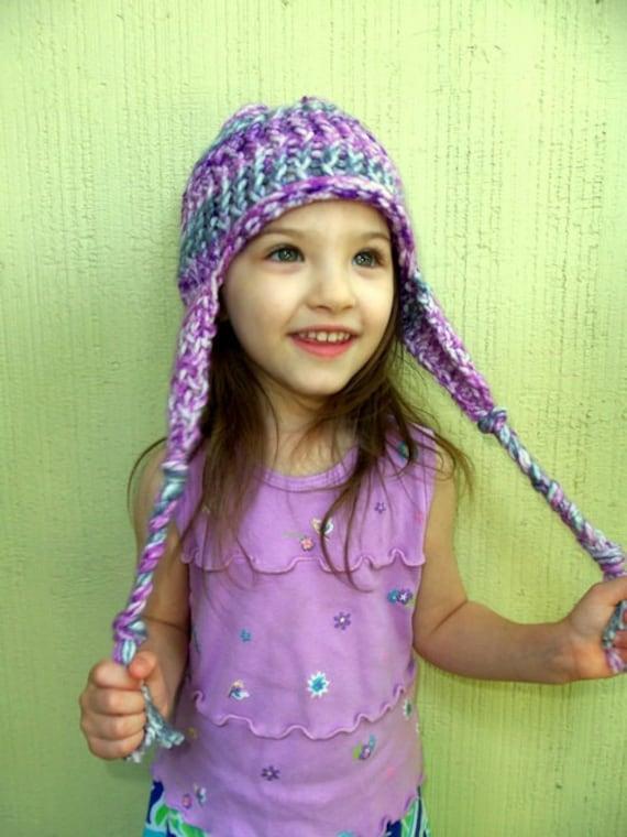 Loom Knit Earflap Hat Pattern Etsy