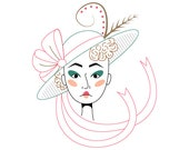 Lady Spring PDF Hand Embroidery Pattern