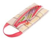Oilcloth Pencil Case Makeup Bag Plaid