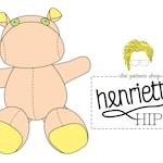 Henrietta Hippo Stuffed Animal Sewing Pattern